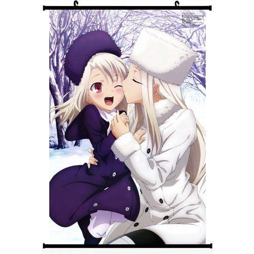 Fate Zero Fate Stay Night Extra Anime Wall Scroll Poster Illyasviel von Einzbern & Irisviel von Einzbern(16''24'') Support Customized