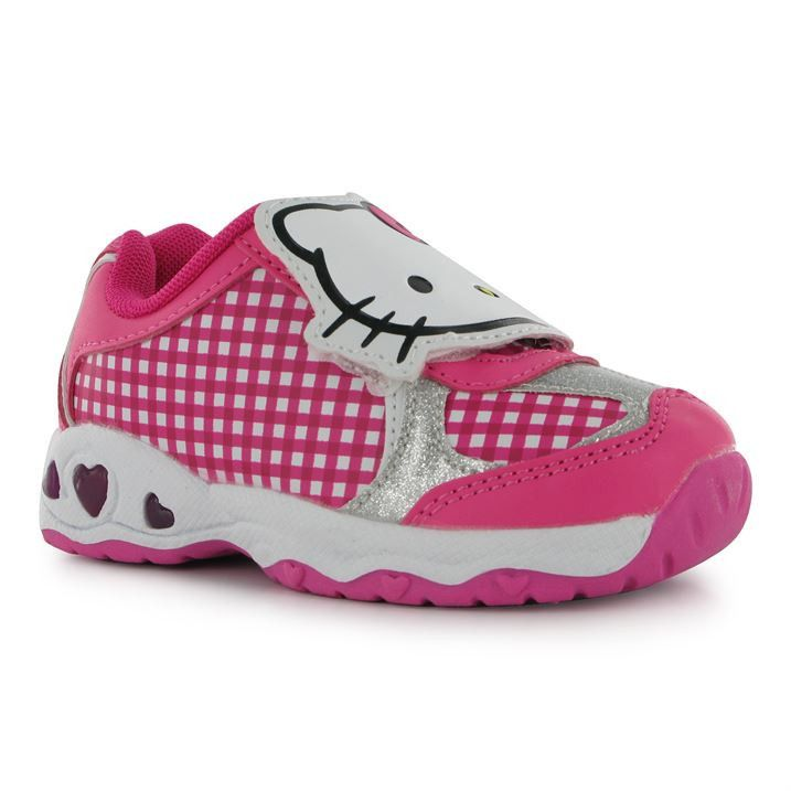959dc6fac Girls Licensed Hello Kitty Light Up Velcro Trainers | Girls Hello ...