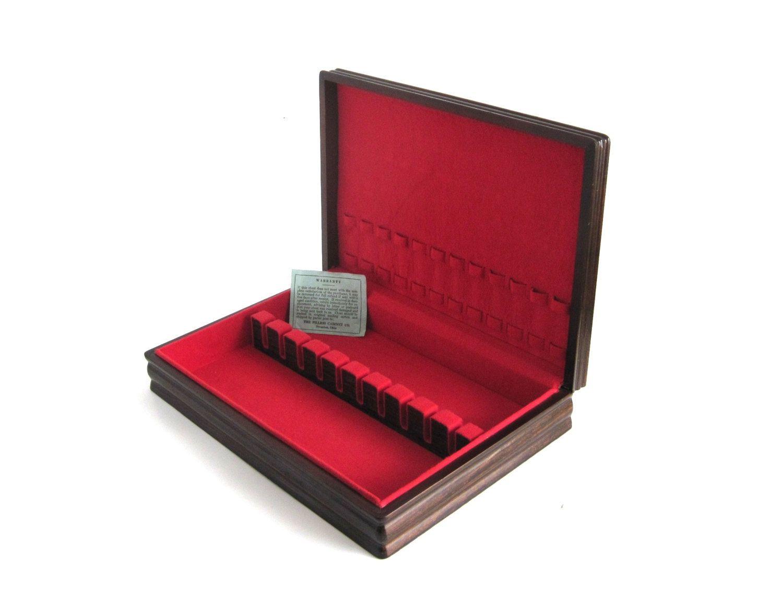 New to LaurasLastDitch on Etsy Empty Flatware Chest Wood Silverware Storage Box Case Pilliod Cabinet Co (34.99 USD)  sc 1 st  Pinterest & Empty Flatware Chest Wood Silverware Storage Box Case (as-is ...
