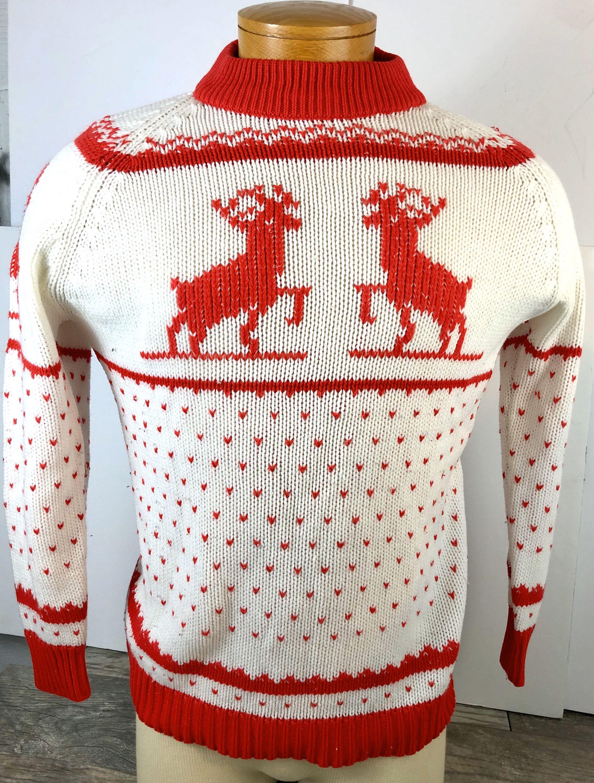 Vintage Classic Buck Deer Sweater Northwoods Handmade
