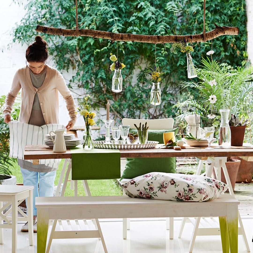 Set a fresh table for spring. #IKEA #IKEAaustralia #outdoor #dining