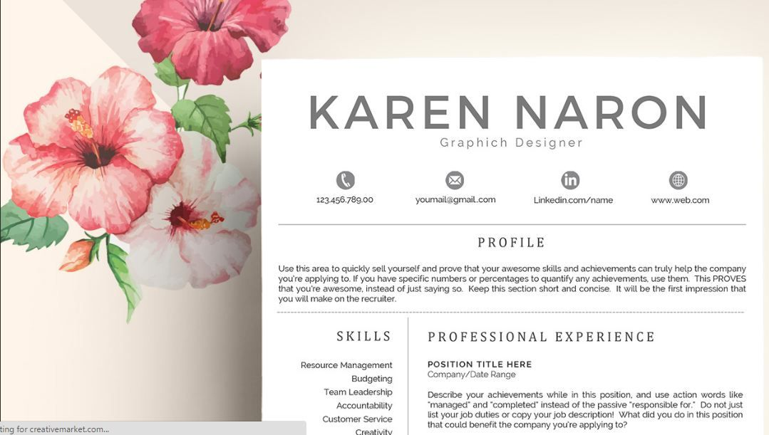 Best Words For Resume Modern Resume Templates Docx To Make Recruiters Awe  Modern Resume .