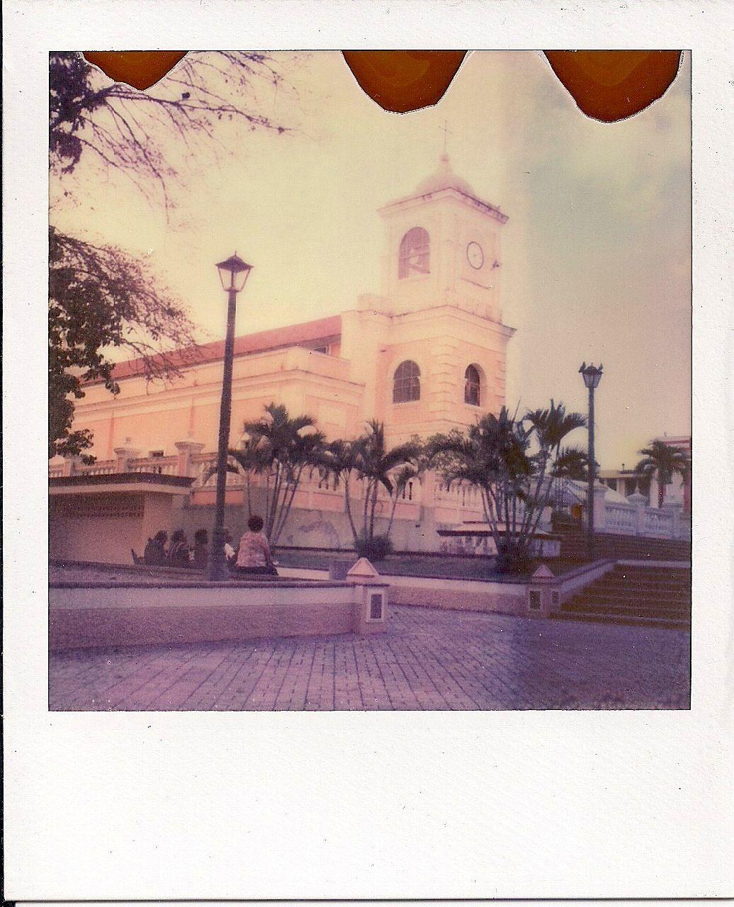 Santiago Apostol Cathedral, Fajardo PR  Polaroid SX-70 with Impossible-Project film