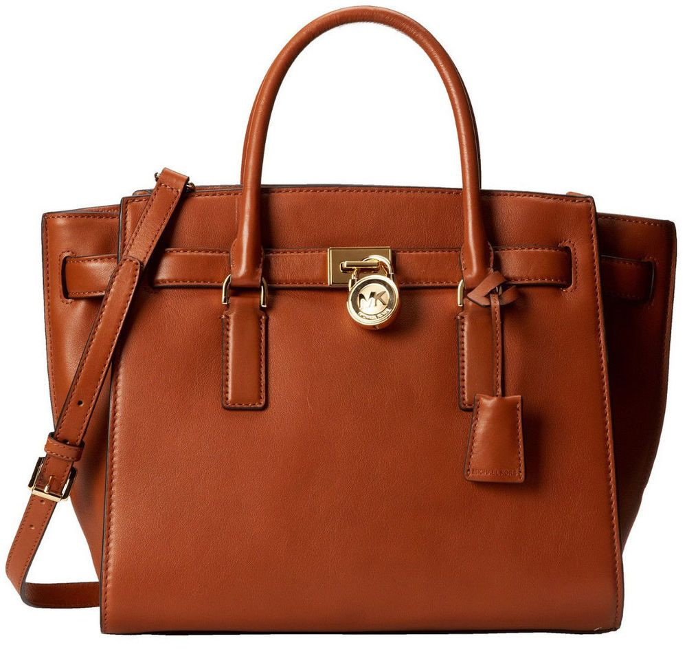 dee8e8ecc1c577 NWT Michael Kors Hamilton Large Traveler Leather Top Zip Tote Bag ~Luggage # MichaelKors #TotesShoppers