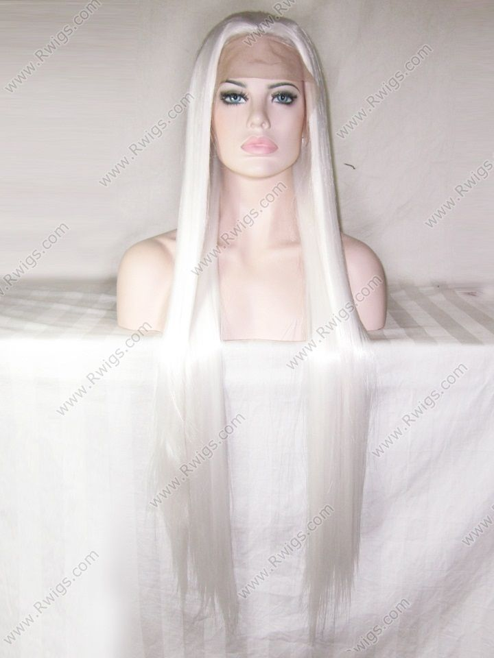 Lady gaga synthetic hair 30 white 60 straight synthetic lace lady gaga synthetic hair white straight synthetic lace front wigs extra long silky straight synthetic cosplay wigs white extra long straight lace pmusecretfo Image collections