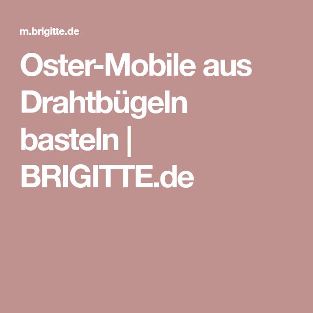 Oster-Mobile aus Drahtbügeln basteln | basteln | Pinterest