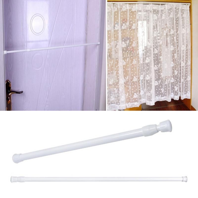 105 200cm Adjustable Spring Loaded Bathroom Shower Curtain Rod