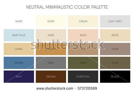 Minimalistic Color Palette Chart Vector Tips Pinterest Chart