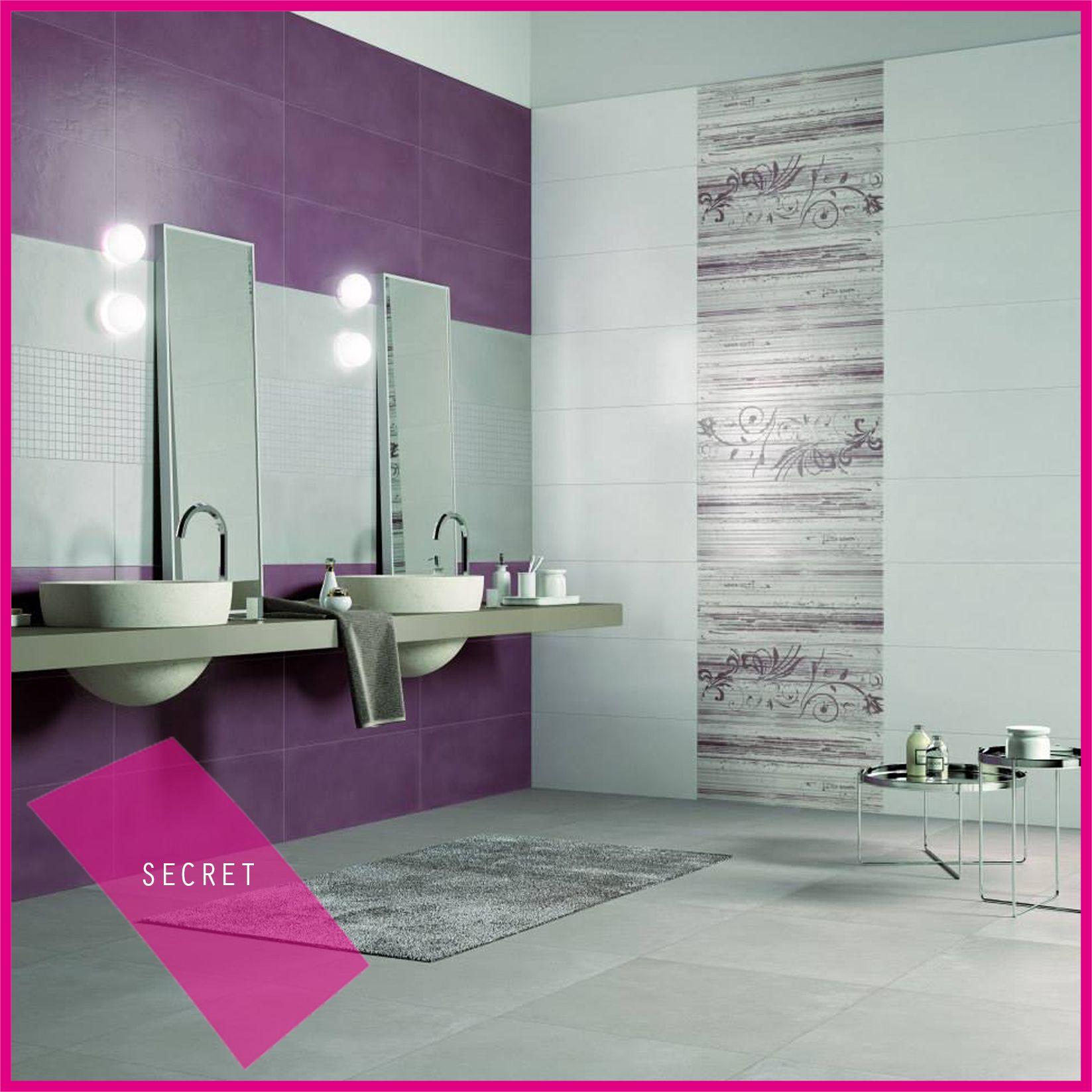 Piastrelle Bagno Mosaico Viola collezione secret #abkemozioni #wall gesso, tortora, malva