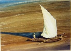 #ClarkHulings was an #adventurer, check out his watercolors and sketches from #Egypt  #art
