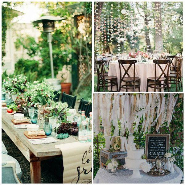 Bohemian Wedding Reception: Bohemian Wedding Table Settings2