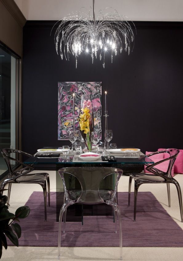 Roche Bobois Ava Chairs Designed By Song Wen Zhong And Diapo Dining Table René Bouchara
