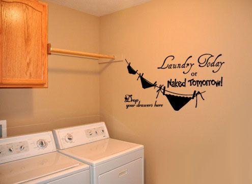 Laundry Room  Vinyl Wall Quote Decal Laundry Rooms Laundry - Custom vinyl wall decals sayings for laundry room