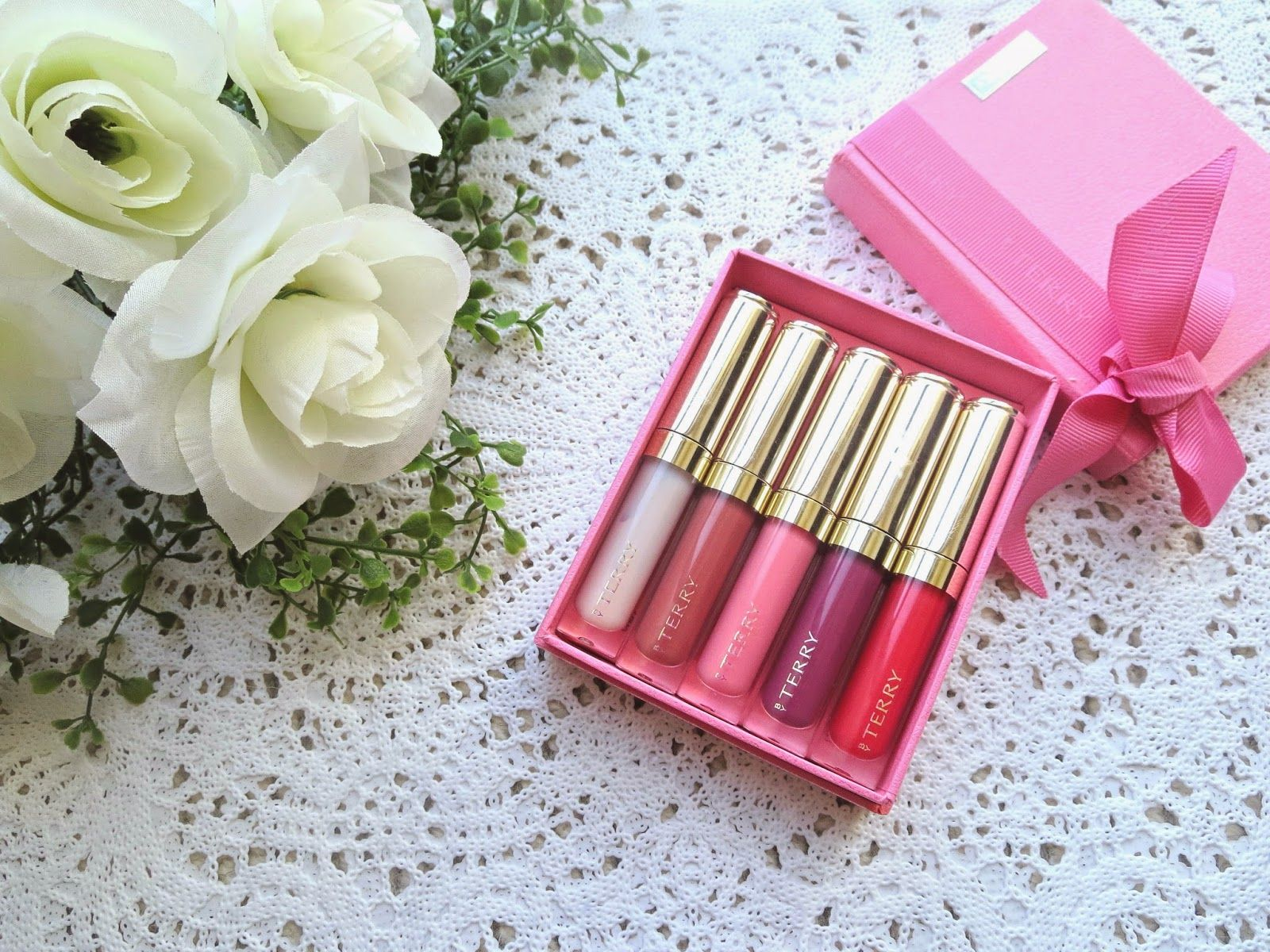 Blossom in Blush By Terry Baume De Rose Lip Gloss Set