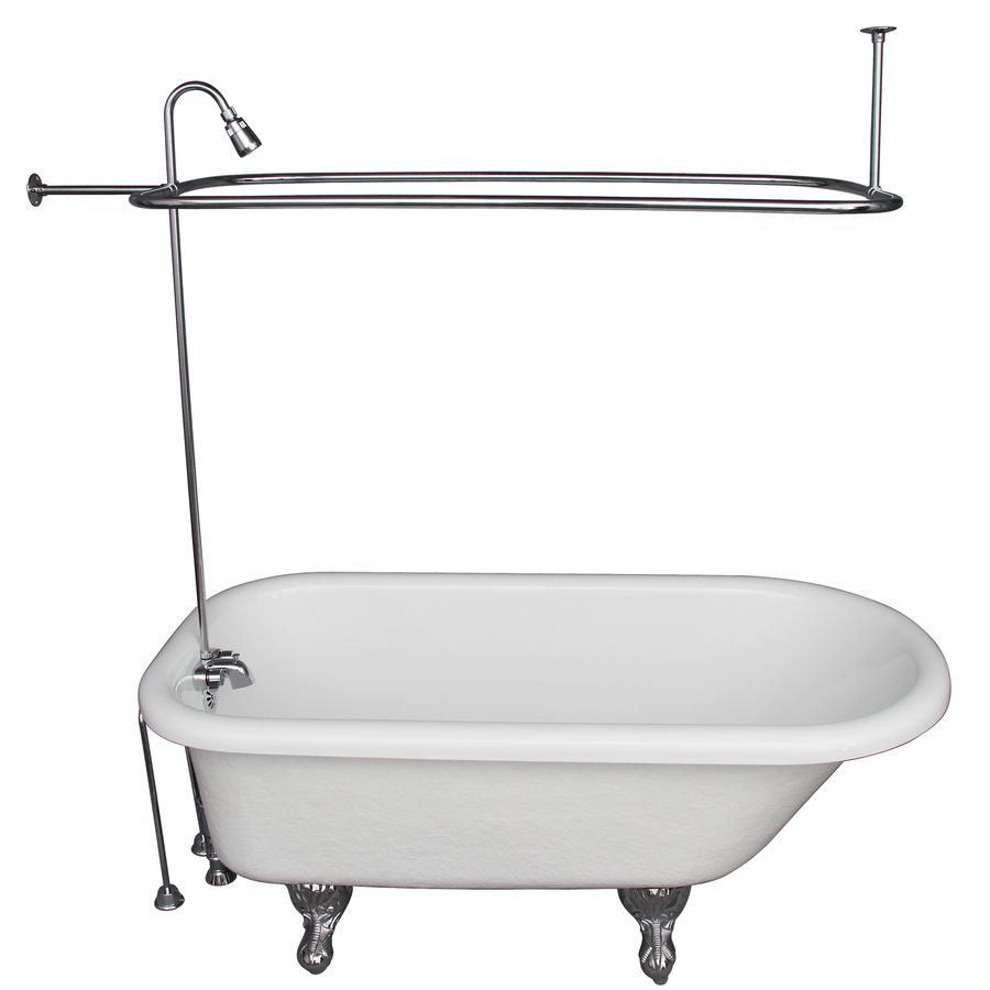 Shop Barclay 60 In X 30 In Polished Chrome Oval Clawfoot Bathtub