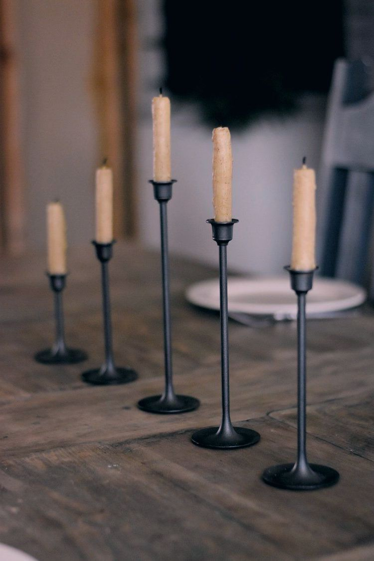 Brass Candlestick Makeover #spraypainting