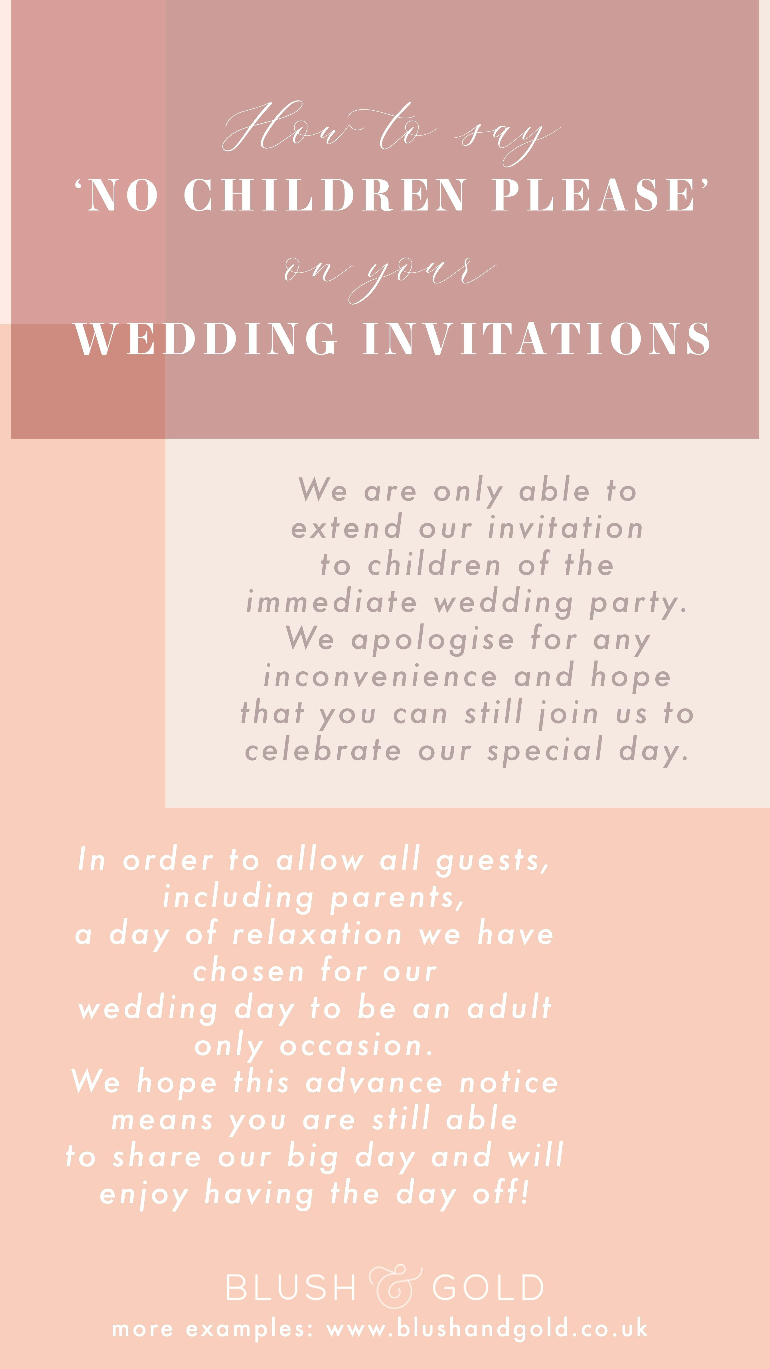 Child Free Wedding Poem Wedding With Kids Beach Wedding Invitations Country Wedding Invitations