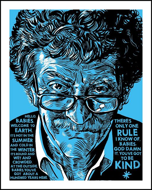 "Kurt Vonnegut ""Got To Be Kind"" art print by Tim Doyle"