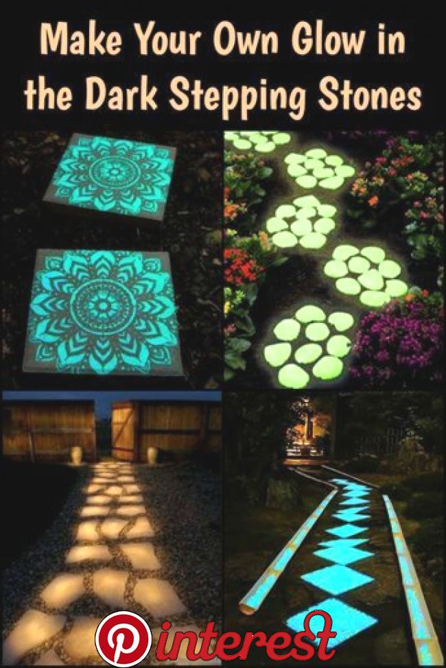 Make Your Own Glow In The Dark Stepping Stones Create Your Own Stepping Stones That Glow In The Da Stepping Stones Diy Backyard Decor Garden Stepping Stones