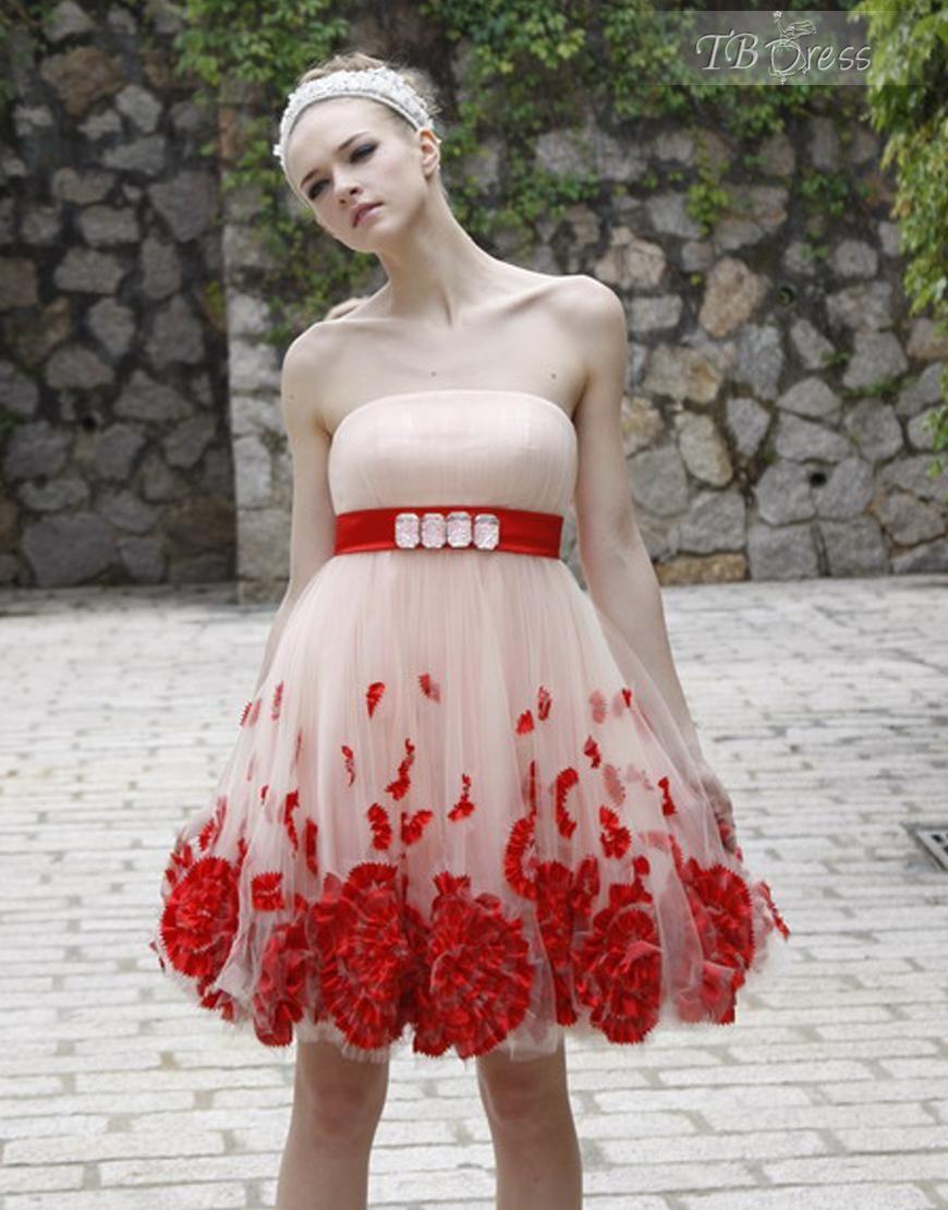 Lovely ALine Srtapless Short/MiniLength Prom Dress