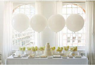 [white wedding decor]