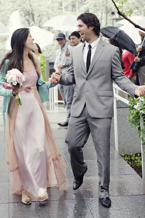 Such a lovely couple! And a gorgeous dress!!