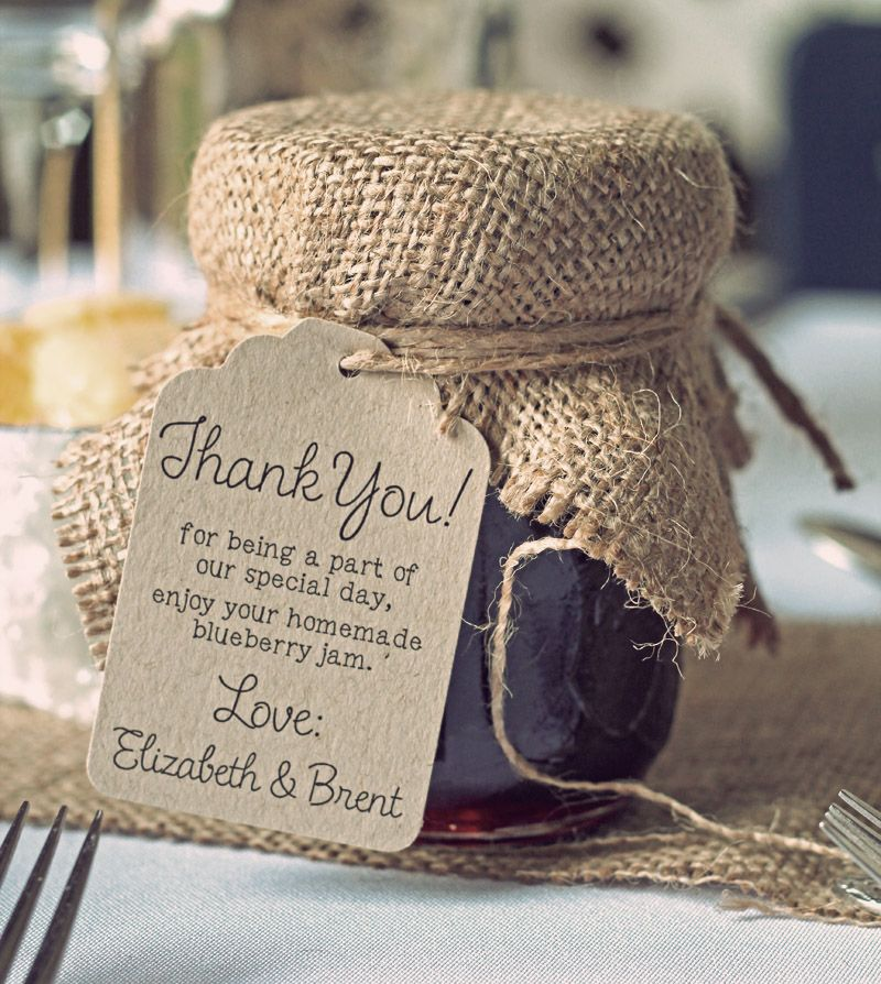 rustic jam jar wedding favour with burlap business ideas