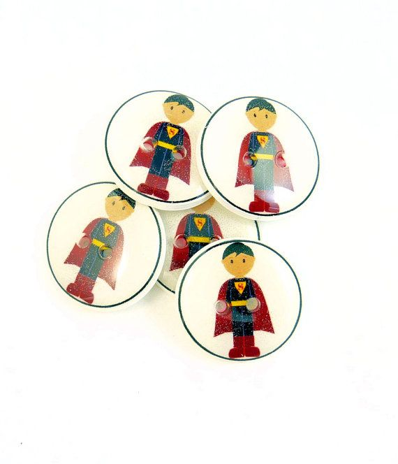 6 Knitting Themed Sewing Buttons Pink Knitting Needles and Yarn Buttons.