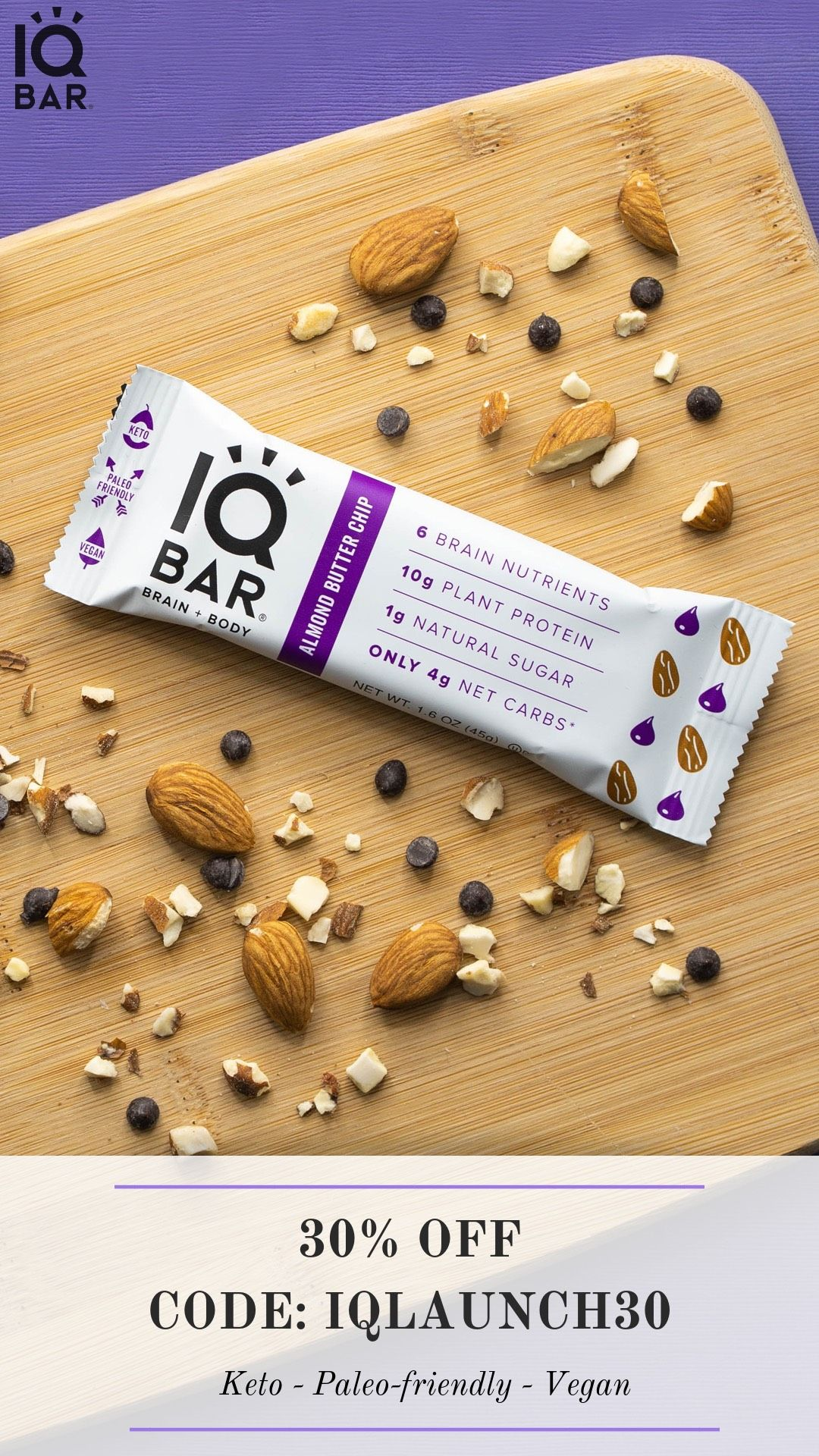 are iq bars okay for a keto diet