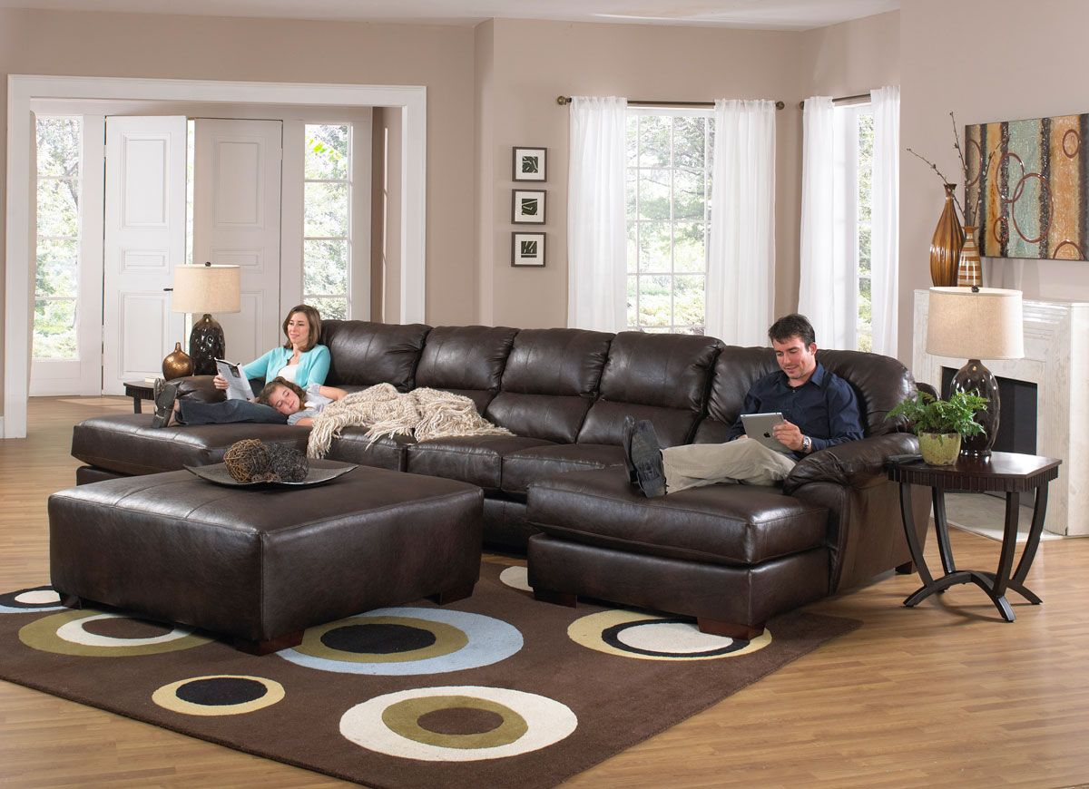 Jackson Lawson Sectional Sofa Set A - Godiva | Family room ...