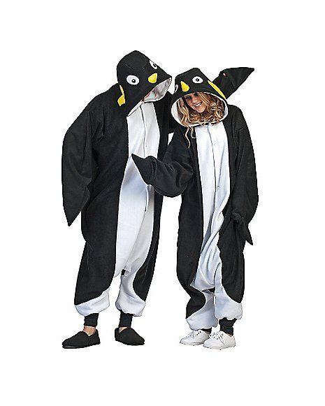 Adult Onesie Anime Penguin Costume - Spencer's