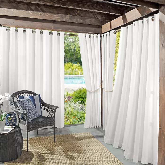 Rodham Uv Protectant Indoor Outdoor Curtain Panel Sun Zero Target In 2020 Outdoor Curtains For Patio Indoor Outdoor Curtains Outdoor Curtains