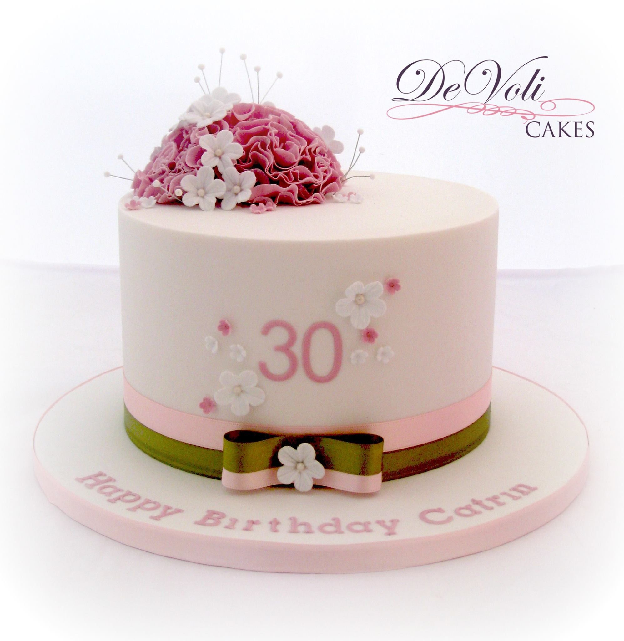 Small Simple And Elegant Birthday Cake 30th Birthday Cake For