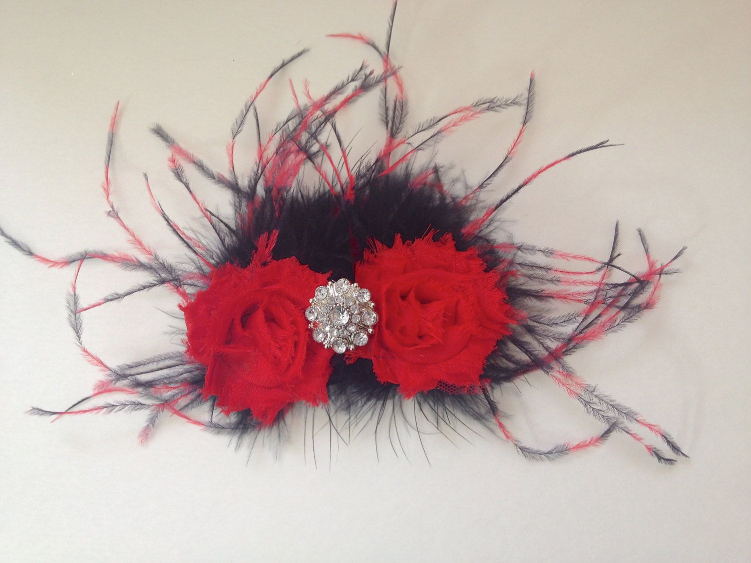 Dance Competition Hair Piece! Red and Black