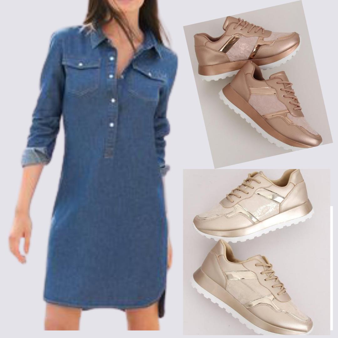 Stylizacja Metaliczne Buty Sportowe Zlote Szampanskie Wowshoes Pl Fashion Wedge Sneaker Shoes