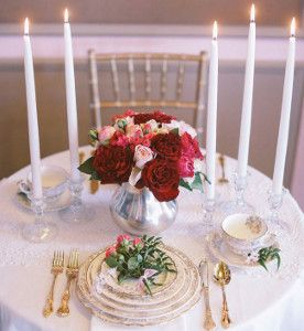 Fairytale Rose Centerpieces ~ easy skill ~ add candles if you like along with beautiful dishes this makes an outstanding centerpiece ~ DIY