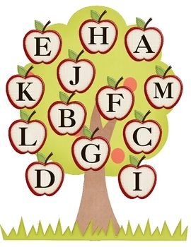 apple alphabet matching game- free on TPT
