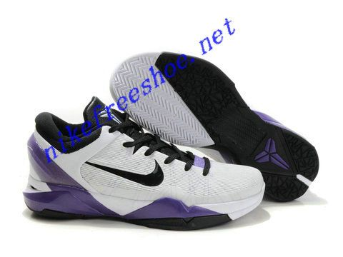 Ken Griffey Shoes Nike Zoom Kobe 7 White Black Varsity Purple Nike Zoom  Kobe 7  The Nike Zoom Kobe 7 White Black Varsity Purple features a low top  design
