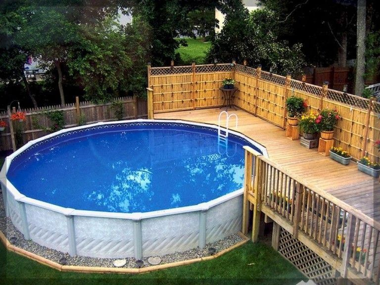 Stunning Ground Pool Design Ideas For Your Backyard Hoomcode Swimming Pool Landscaping Above Ground Pool Landscaping Swimming Pool Decks