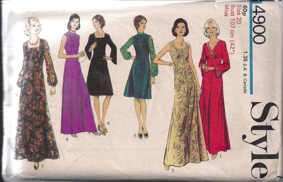 Maxi dress 70s style 42
