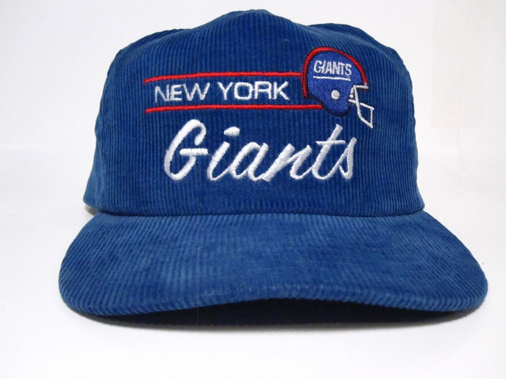 Vintage New York Giants Corduroy 90 s Mint Condition Snapback Mens Adj  Script  e862f9fff