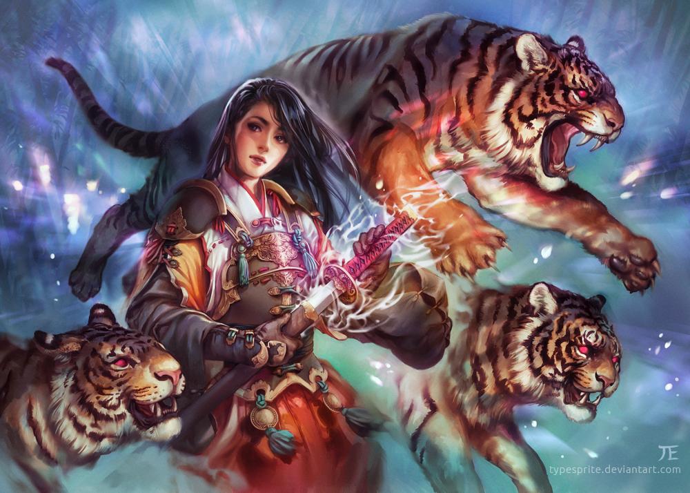 максимально картинки фэнтези и тигры его семье нет