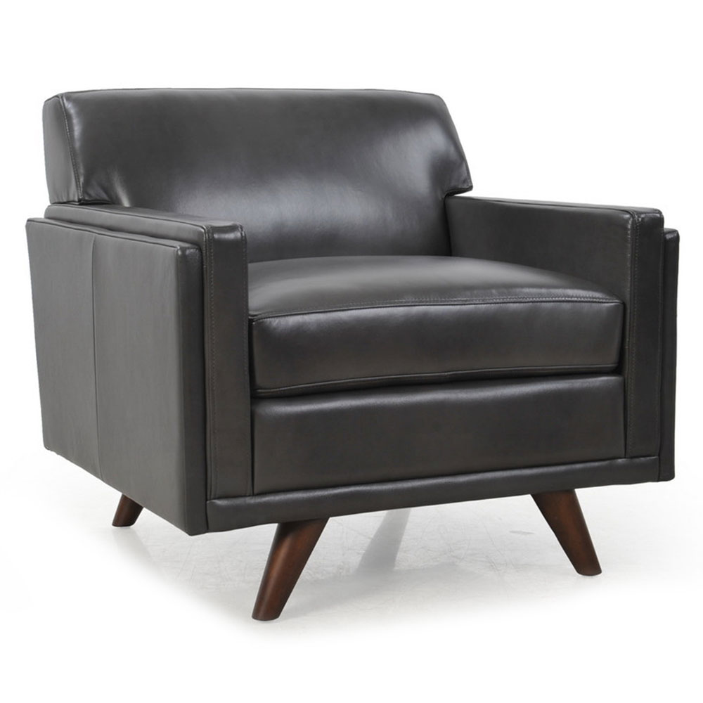 Mid Century Leather Chair, Mid