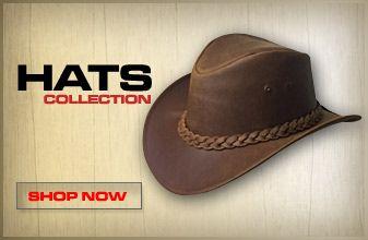LESA COLLECTION. LESA COLLECTION Leather Cowboy Hats 89d700ba22f1