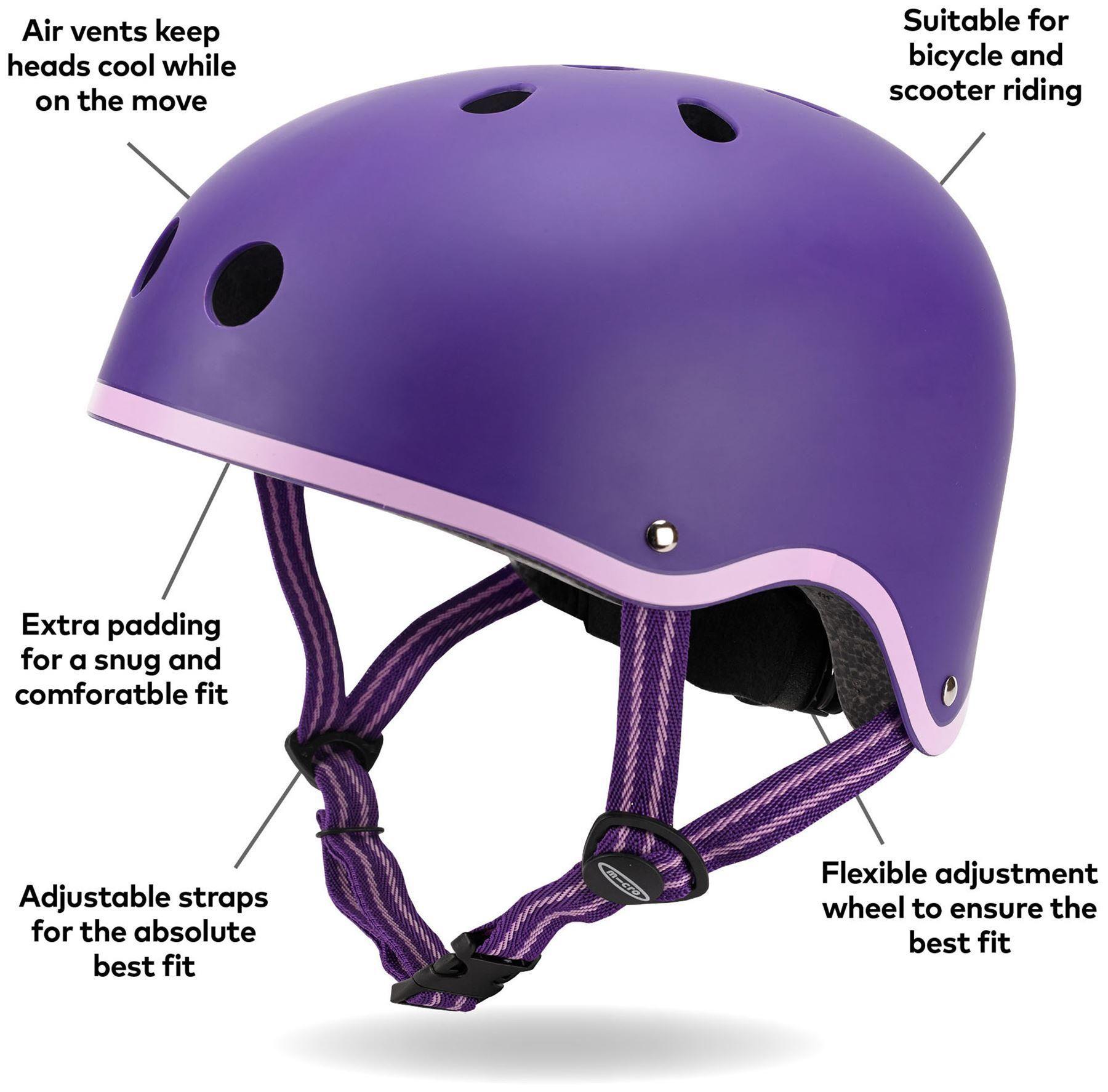 Micro Scooters Purple Helmet Medium In 2020 Micro Scooter