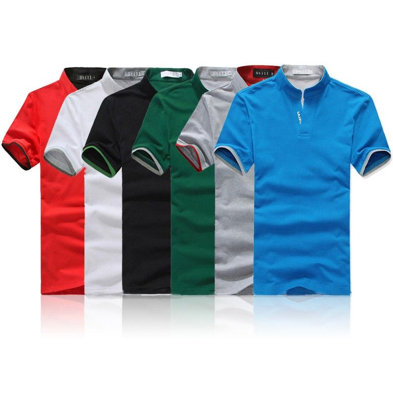 New Men/'s Slim Fit Casual Shirt T-Shirts Tops Short Sleeve Polo Shirts 4 Colors