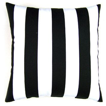 Black and White Stripe Decorative Pillow Cover - Available In 3 Sizes