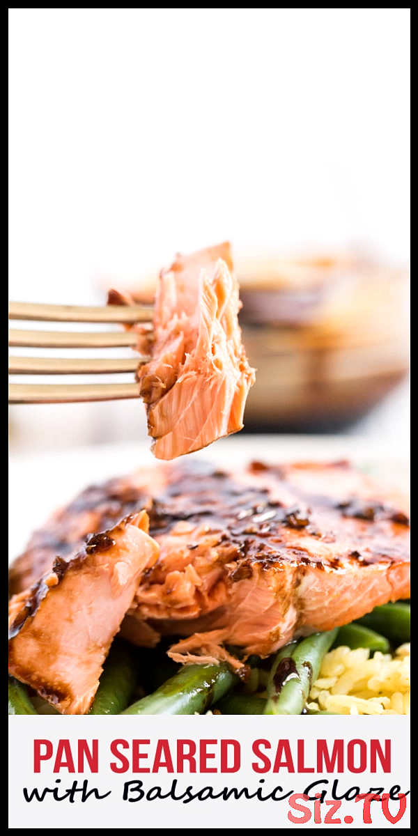 Pan Seared Salmon With Balsamic Glaze   Fresh Salmon Pan Seared Then Oven Roasted To Finish Topped With A Delicious Balsamic Glaze This Glazed Salmon Recipe Is So Good The Glaze Is Made From Balsamic Vinegar Maple Syrup Garlic And Dijon Mustard Yum #seafoodstewvideos #seared #salmon #with #balsamic #glaze #fresh #then #oven #roasted #finish #topped #delicious #this #glazed #recipe #good #made #from #vinegar #maple #searedsalmonrecipes Pan Seared Salmon With Balsamic Glaze   Fresh Salmon Pan Sear #searedsalmonrecipes