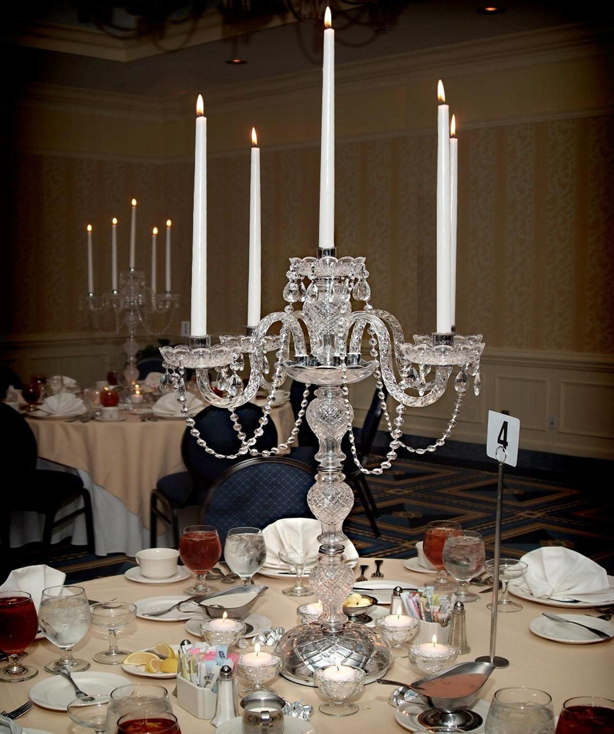 Table lights polish chrome candelabra candelabrum candle