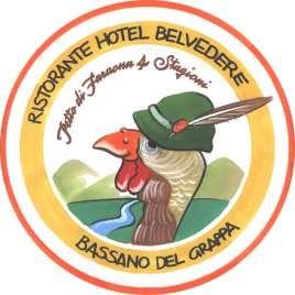 The logo for Bassano del Grappa on the drink coaster